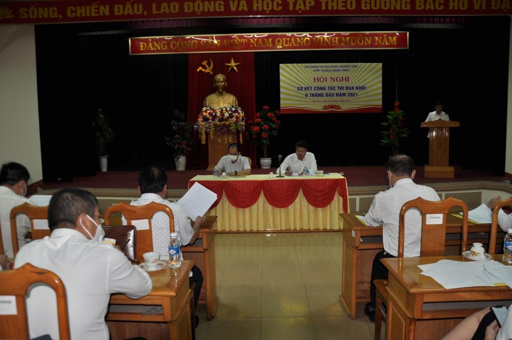 Hội nghị sơ kết 6 tháng đầu năm 2021 của Khối thi đua Ngân hàng Hà Tĩnh