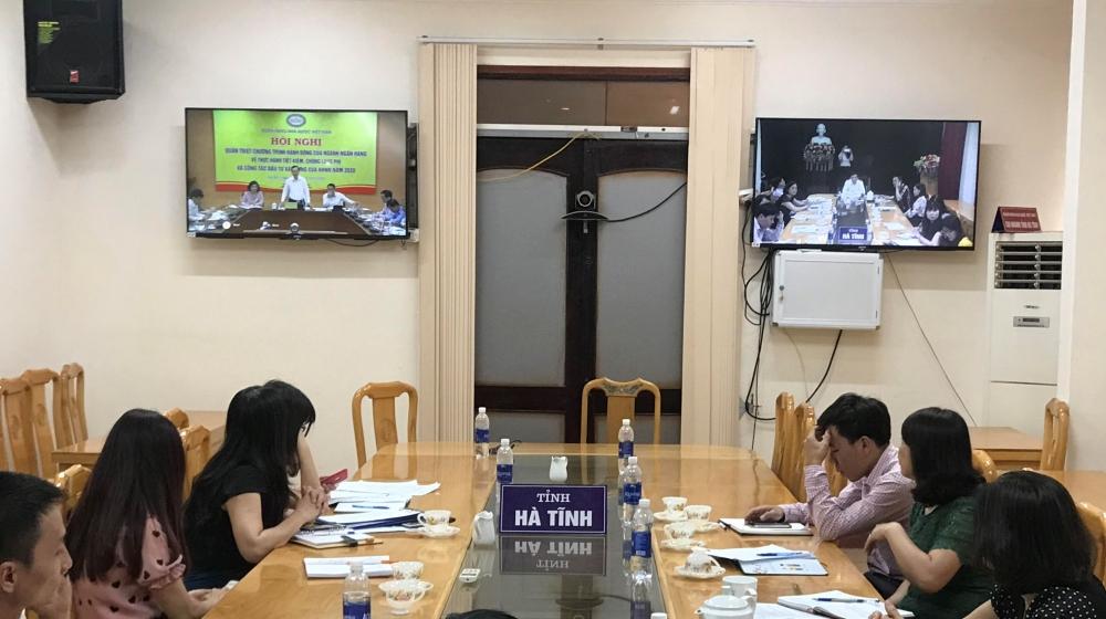 Ngân hàng Nhà nước Việt Nam tổ chức Hội nghị trực tuyến quán triệt Chương trình THTK, CLP và công tác đầu tư xây dựng năm 2020