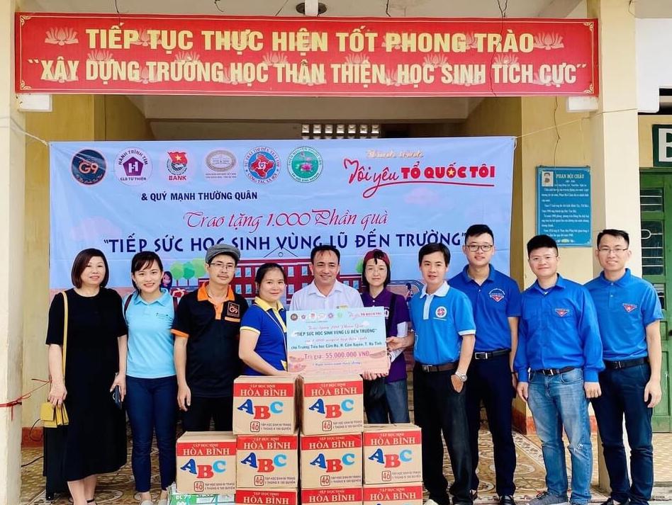 """""""Chương trình tình nguyện mùa Đông"""" của Đoàn thanh niên Ngân hàng Nhà nước Chi nhánh tỉnh Hà Tĩnh"""